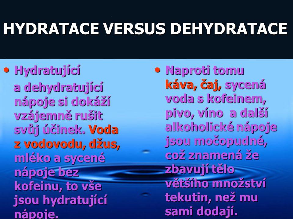 HYDRATACE VERSUS DEHYDRATACE