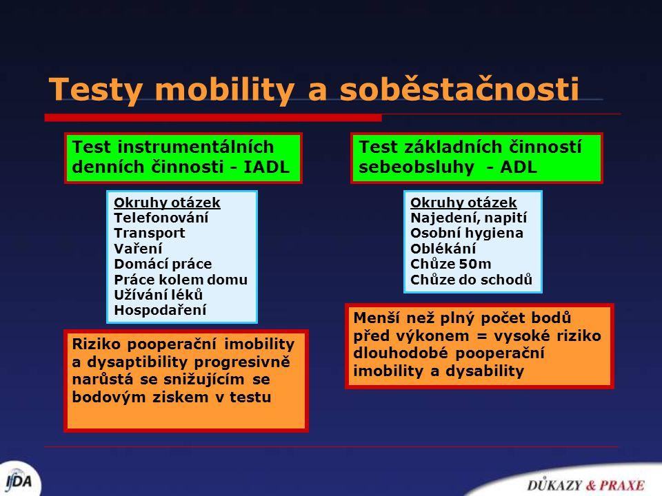 Testy mobility a soběstačnosti