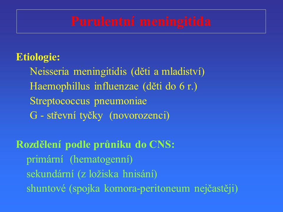 Purulentní meningitida