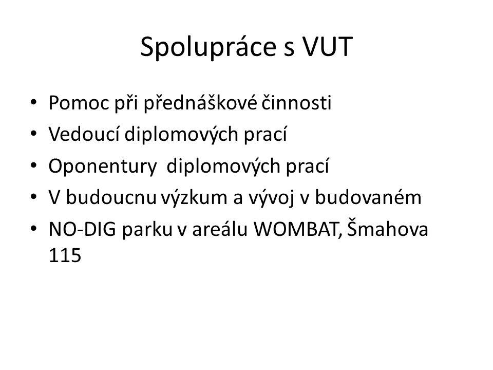 Spolupráce s VUT Pomoc při přednáškové činnosti