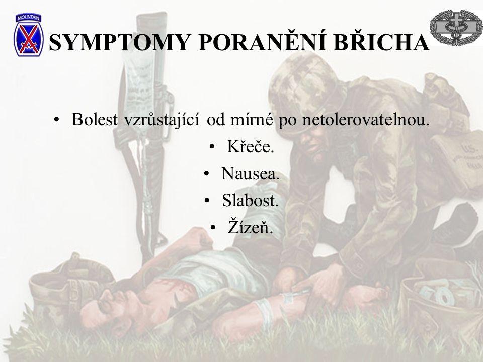 SYMPTOMY PORANĚNÍ BŘICHA
