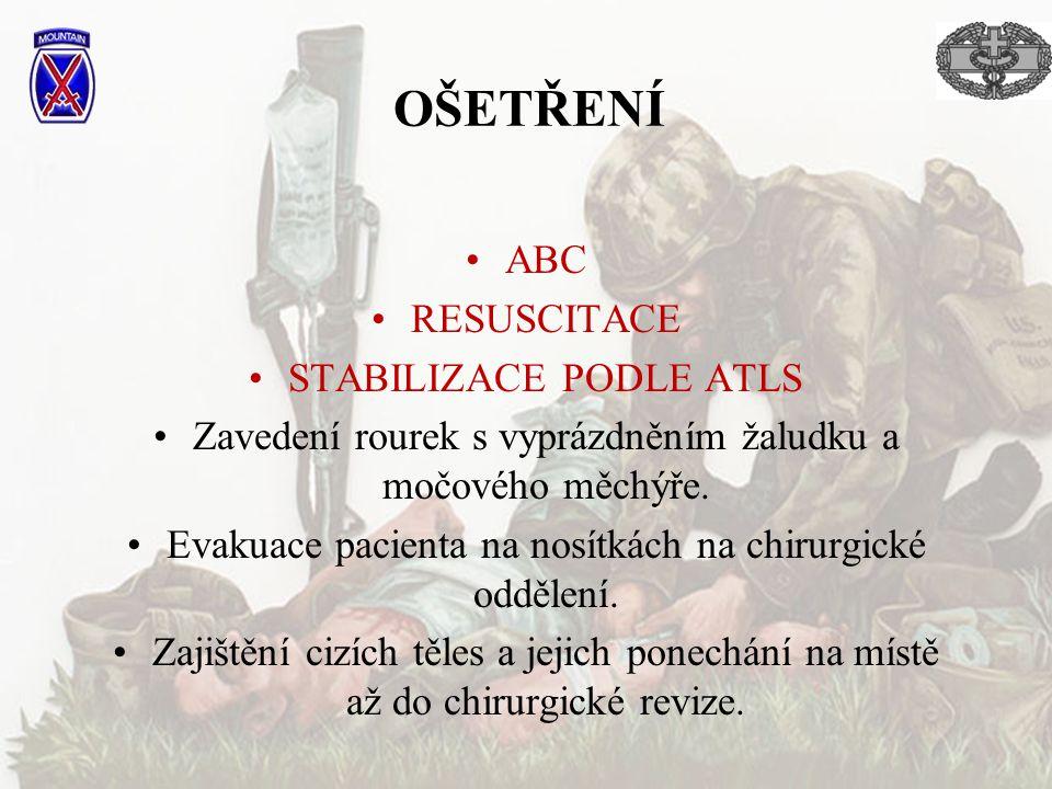 OŠETŘENÍ ABC RESUSCITACE STABILIZACE PODLE ATLS