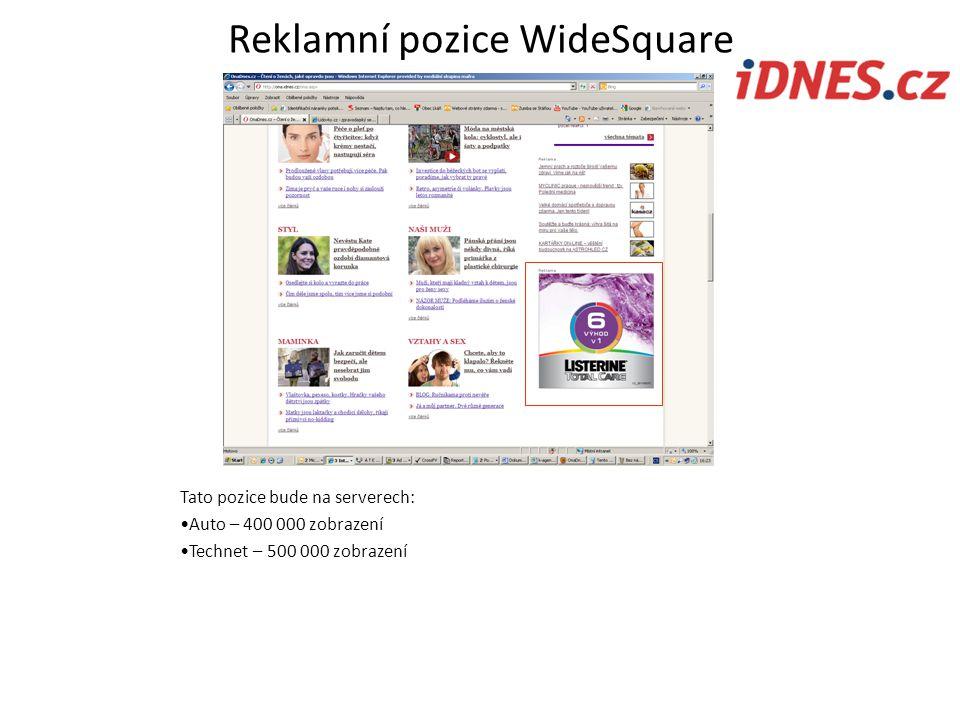 Reklamní pozice WideSquare