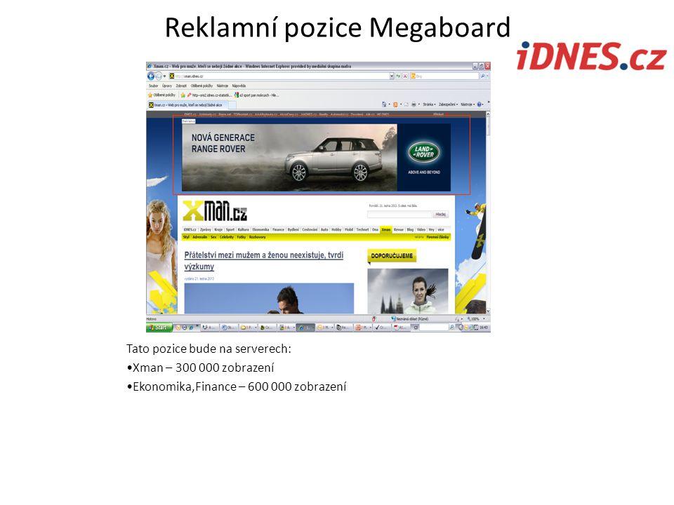 Reklamní pozice Megaboard