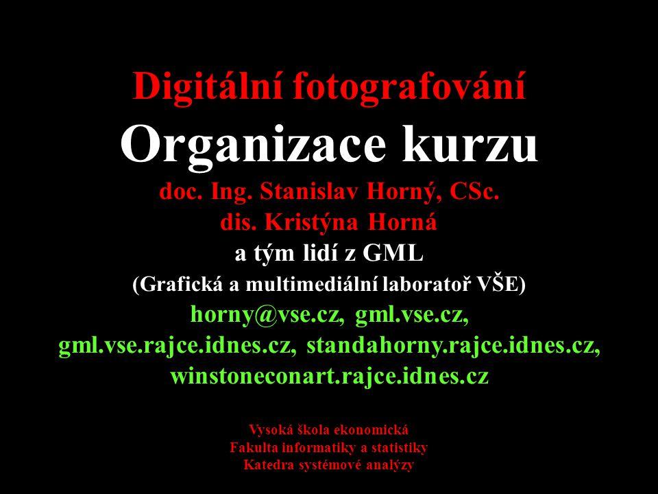 Organizace kurzu Digitální fotografování 4SA424
