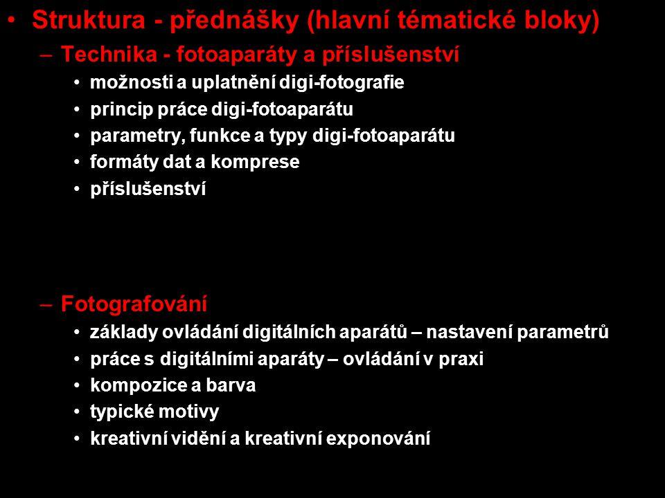Struktura - přednášky (hlavní tématické bloky)