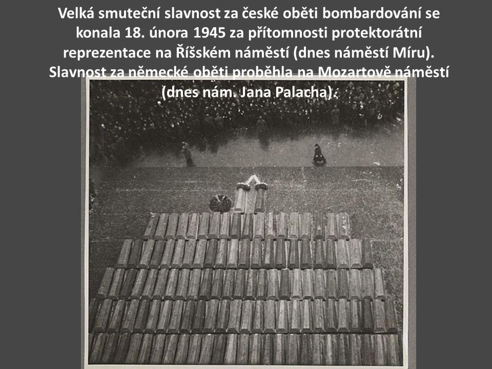 Velká smuteční slavnost za české oběti bombardování se konala 18