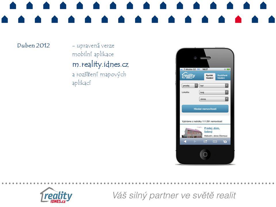 Duben 2012 - upravená verze mobilní aplikace m. reality. idnes