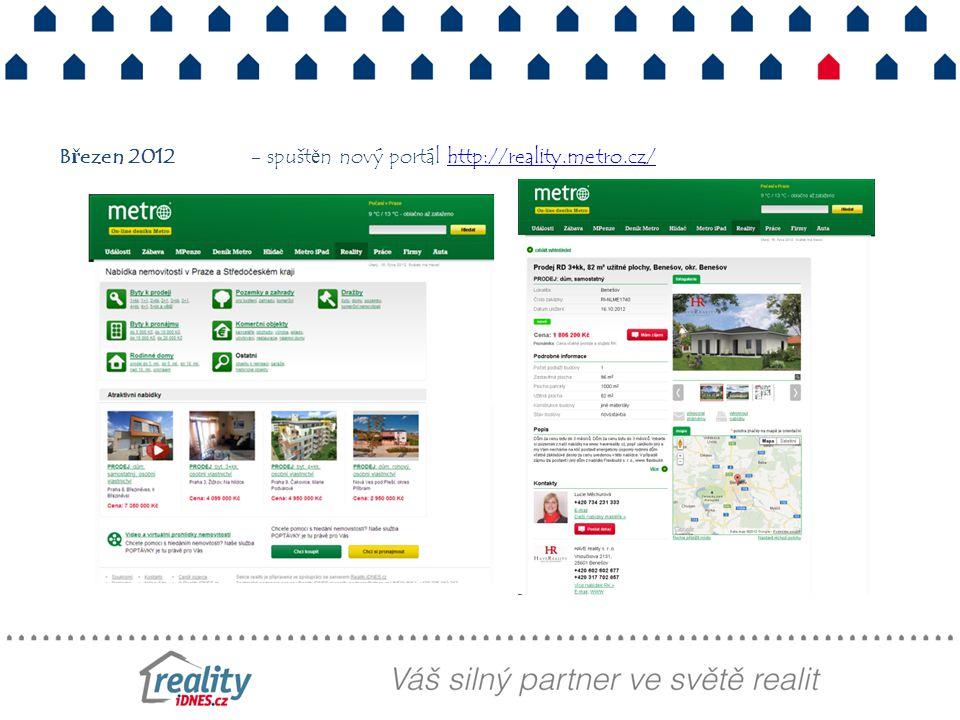 Březen 2012 - spuštěn nový portál http://reality.metro.cz/