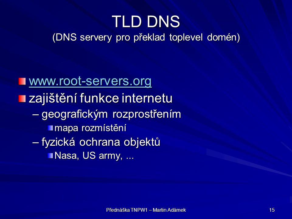 TLD DNS (DNS servery pro překlad toplevel domén)