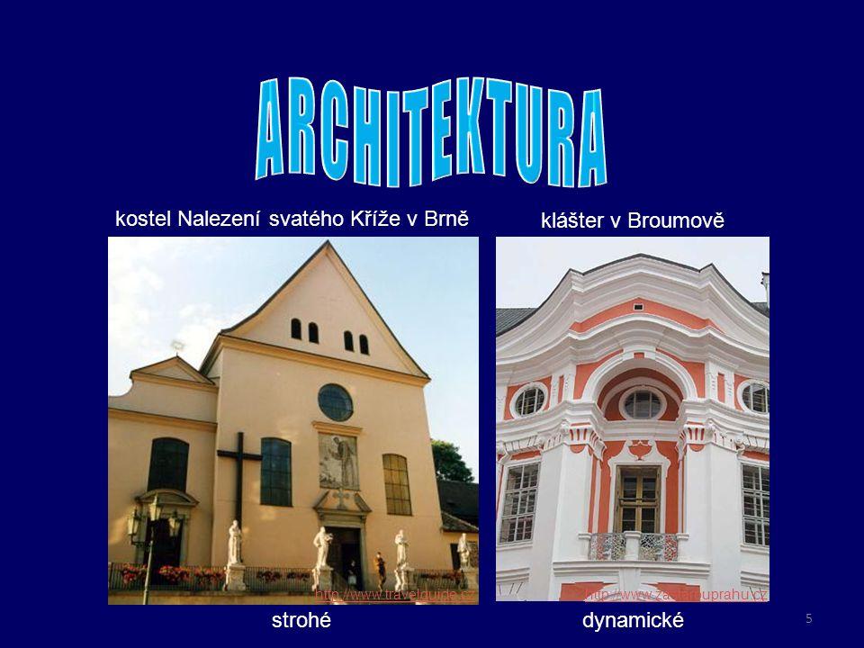 ARCHITEKTURA do současnosti se zachovalo velké množství barokních
