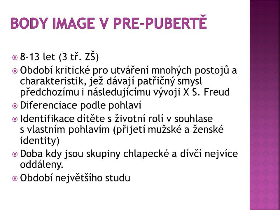 Body image v pre-pubertě