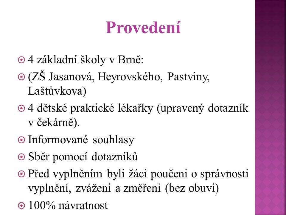 Provedení 4 základní školy v Brně: