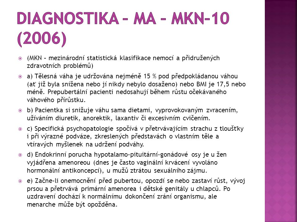 Diagnostika – MA – MKN–10 (2006)