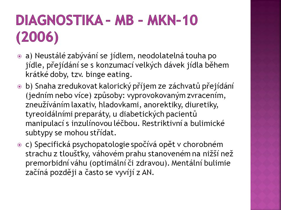Diagnostika – MB – MKN–10 (2006)