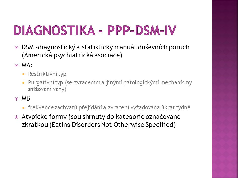 Diagnostika - PPP–DSM-IV
