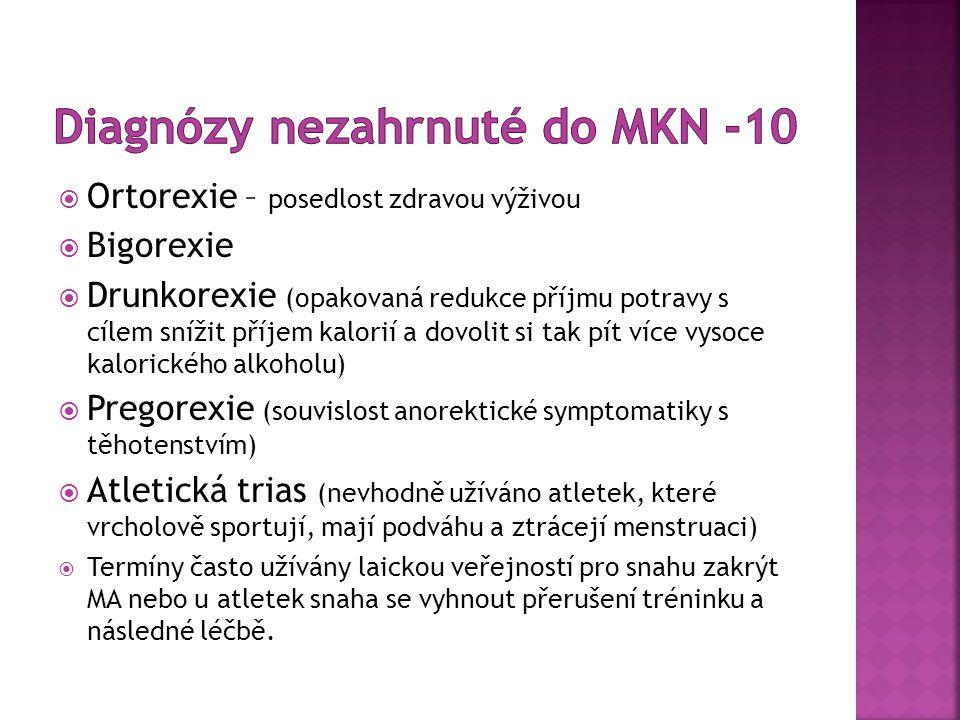 Diagnózy nezahrnuté do MKN -10