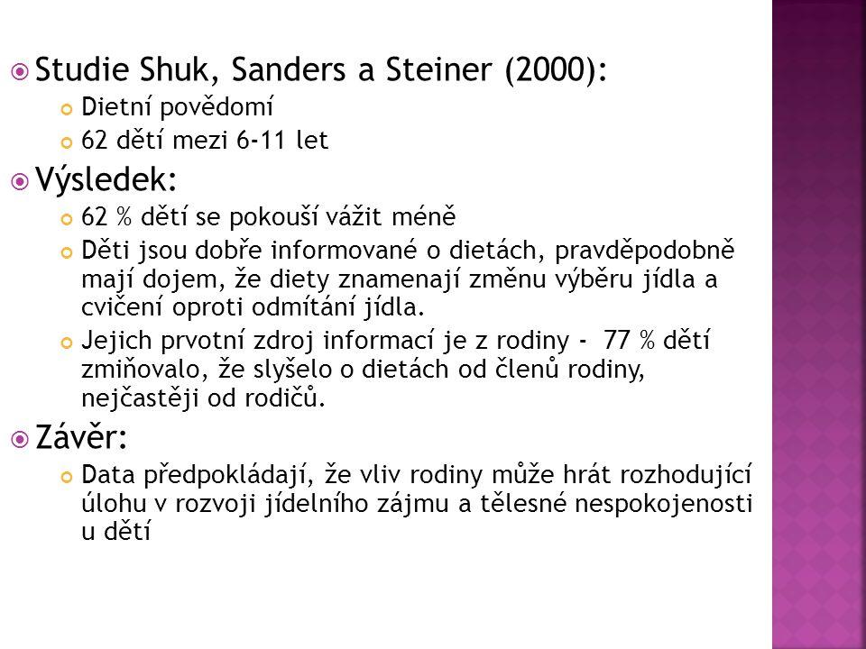 Studie Shuk, Sanders a Steiner (2000):