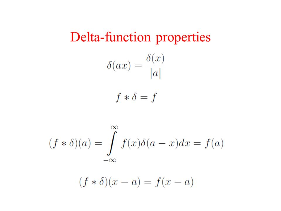 Delta-function properties