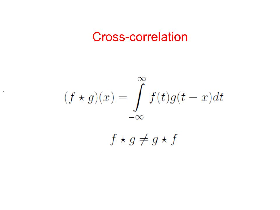 Cross-correlation ,