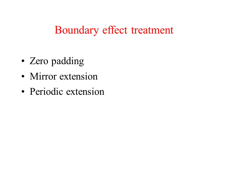 Boundary effect treatment