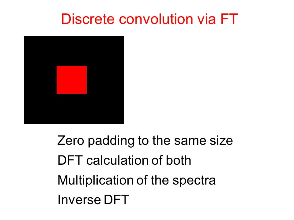 Discrete convolution via FT