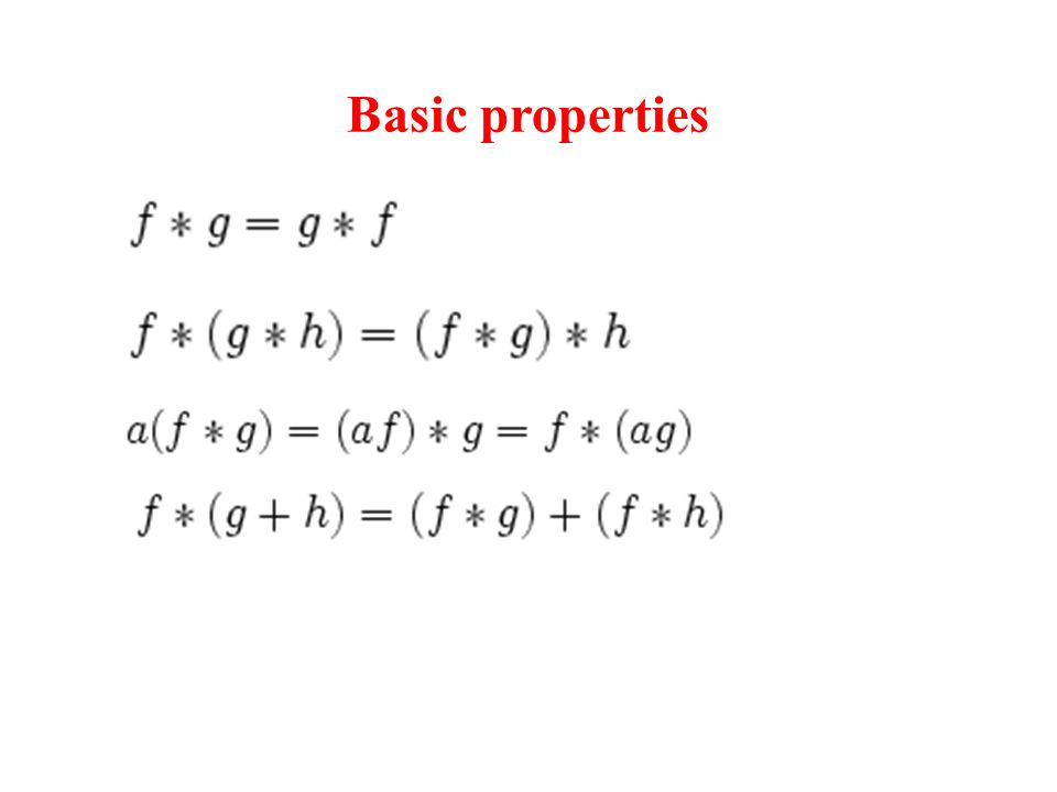 Basic properties