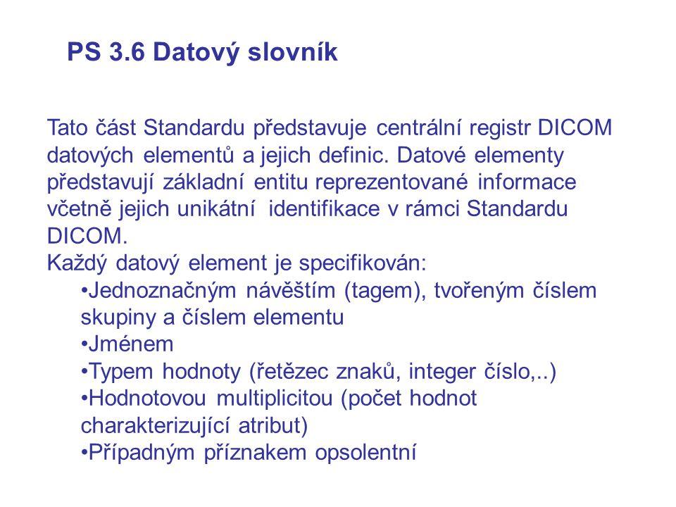 PS 3.6 Datový slovník