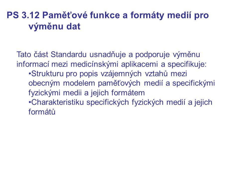 PS 3.12 Paměťové funkce a formáty medií pro výměnu dat