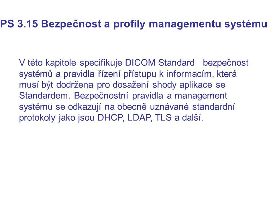 PS 3.15 Bezpečnost a profily managementu systému