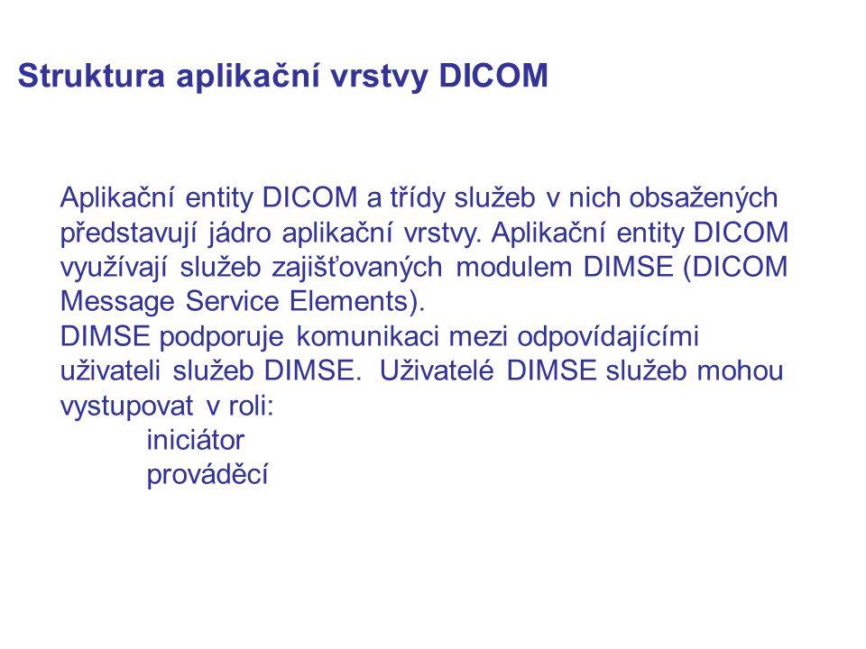 Struktura aplikační vrstvy DICOM
