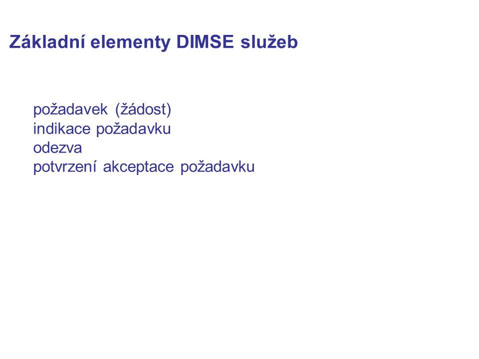 Základní elementy DIMSE služeb