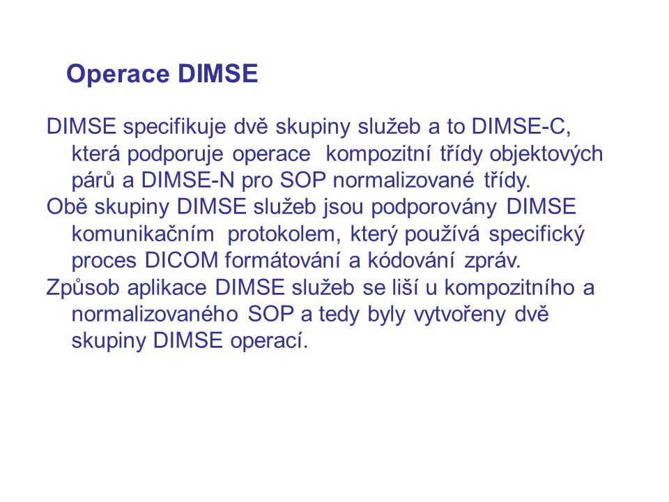 Operace DIMSE