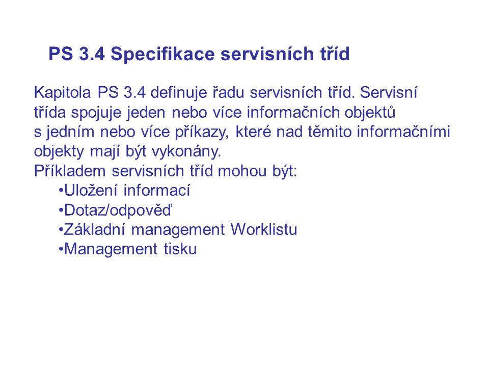 PS 3.4 Specifikace servisních tříd
