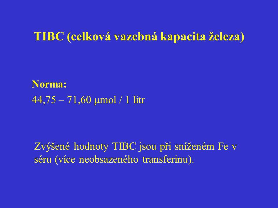 TIBC (celková vazebná kapacita železa)