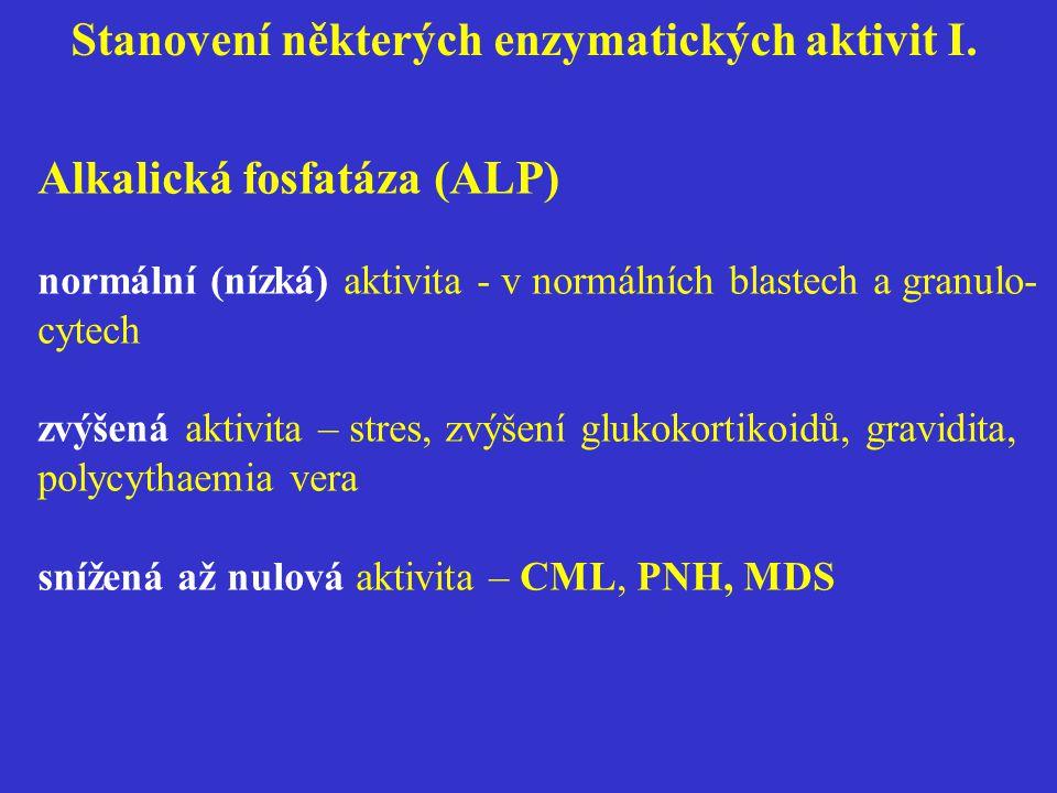 Stanovení některých enzymatických aktivit I.
