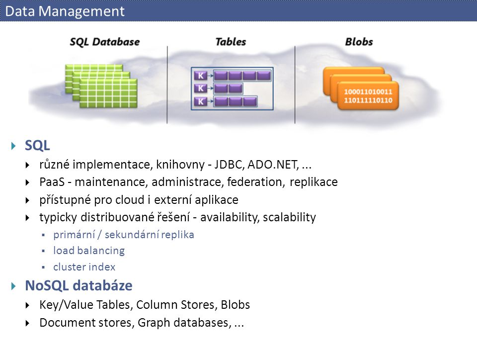 Data Management SQL NoSQL databáze
