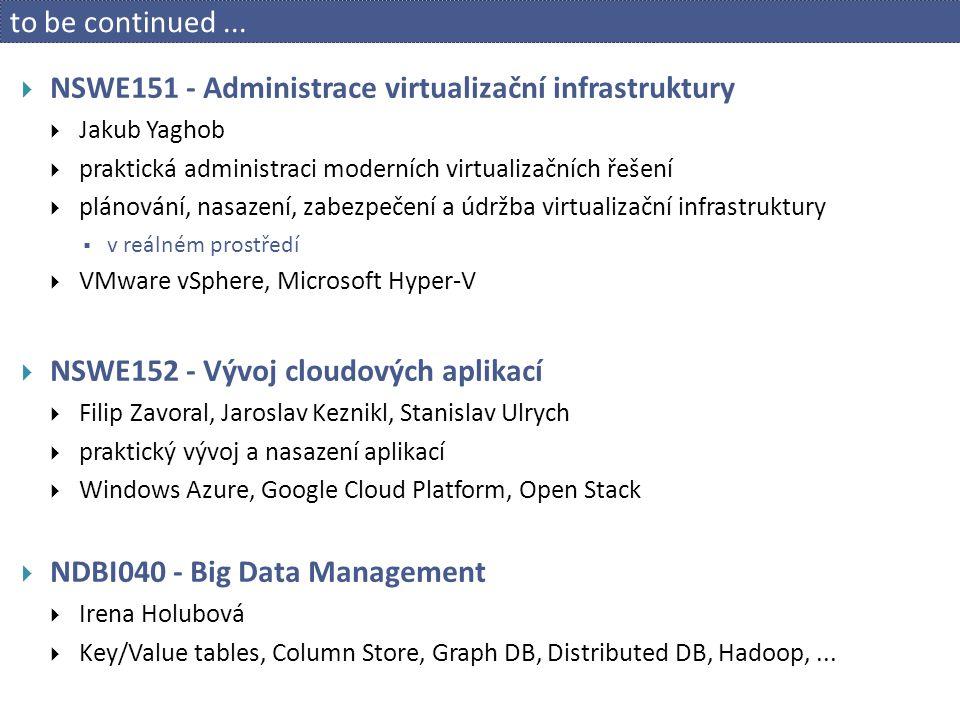 NSWE151 - Administrace virtualizační infrastruktury