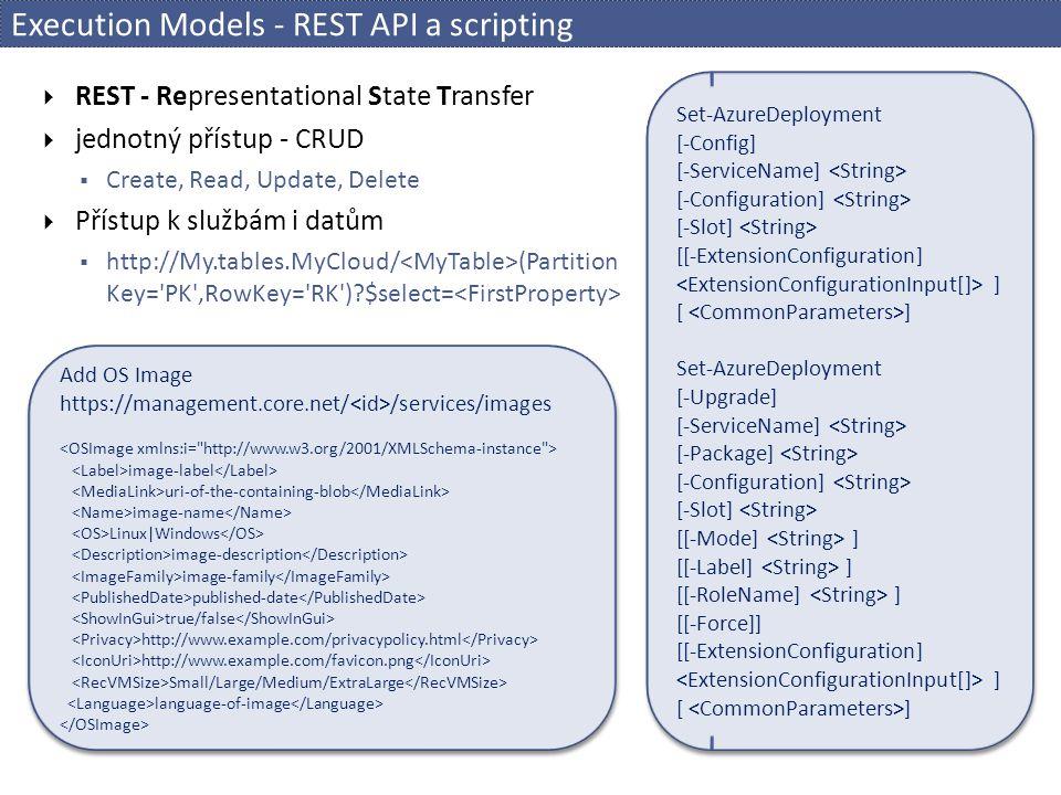 Execution Models - REST API a scripting