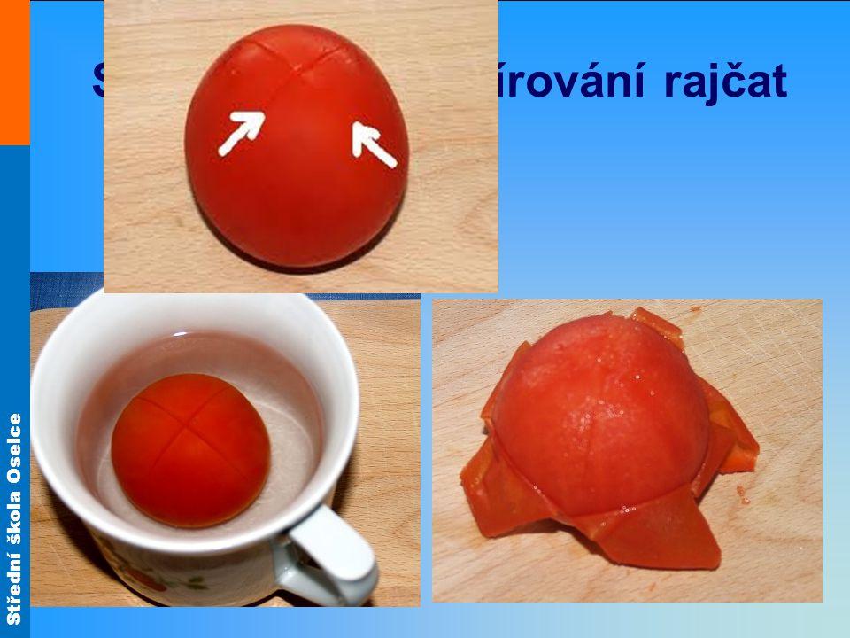 Spařování – blanšírování rajčat