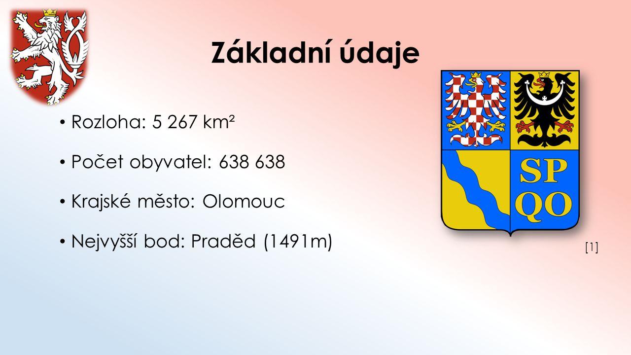Základní údaje Rozloha: 5 267 km² Počet obyvatel: 638 638
