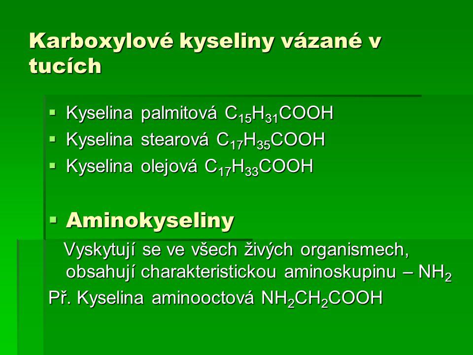 Karboxylové kyseliny vázané v tucích