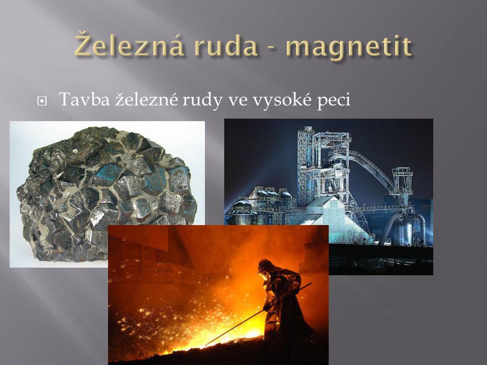 Železná ruda - magnetit