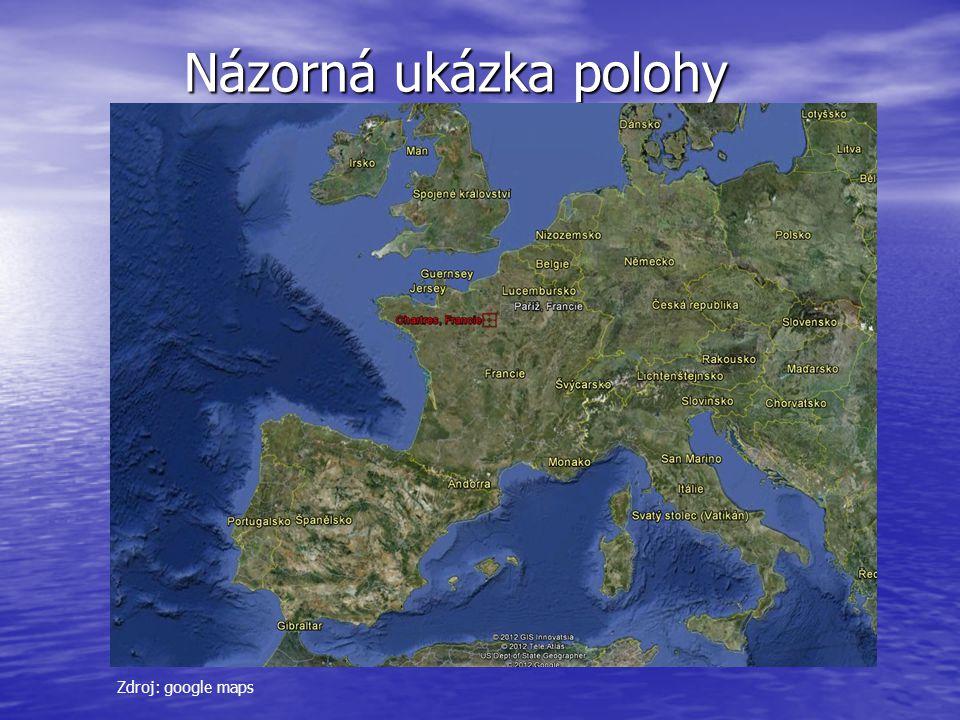 Názorná ukázka polohy Názorná ukázka polohy Zdroj: google maps