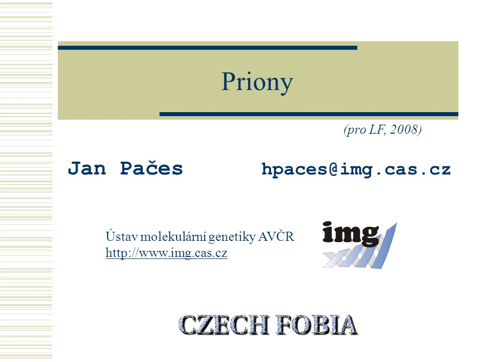 Jan Pačes hpaces@img.cas.cz