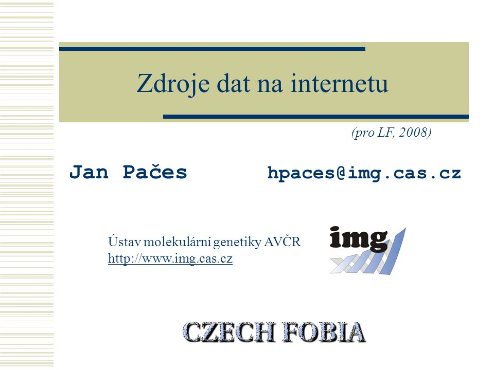 Zdroje dat na internetu