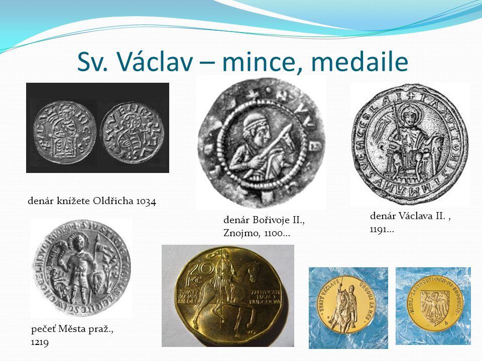 Sv. Václav – mince, medaile