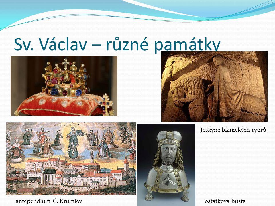 Sv. Václav – různé památky