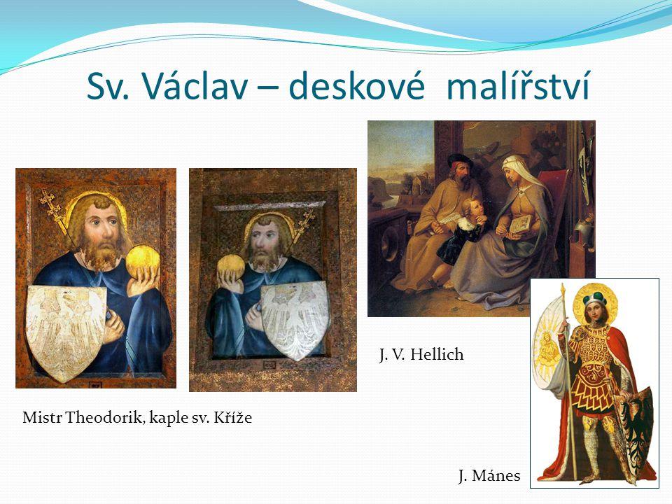 Sv. Václav – deskové malířství