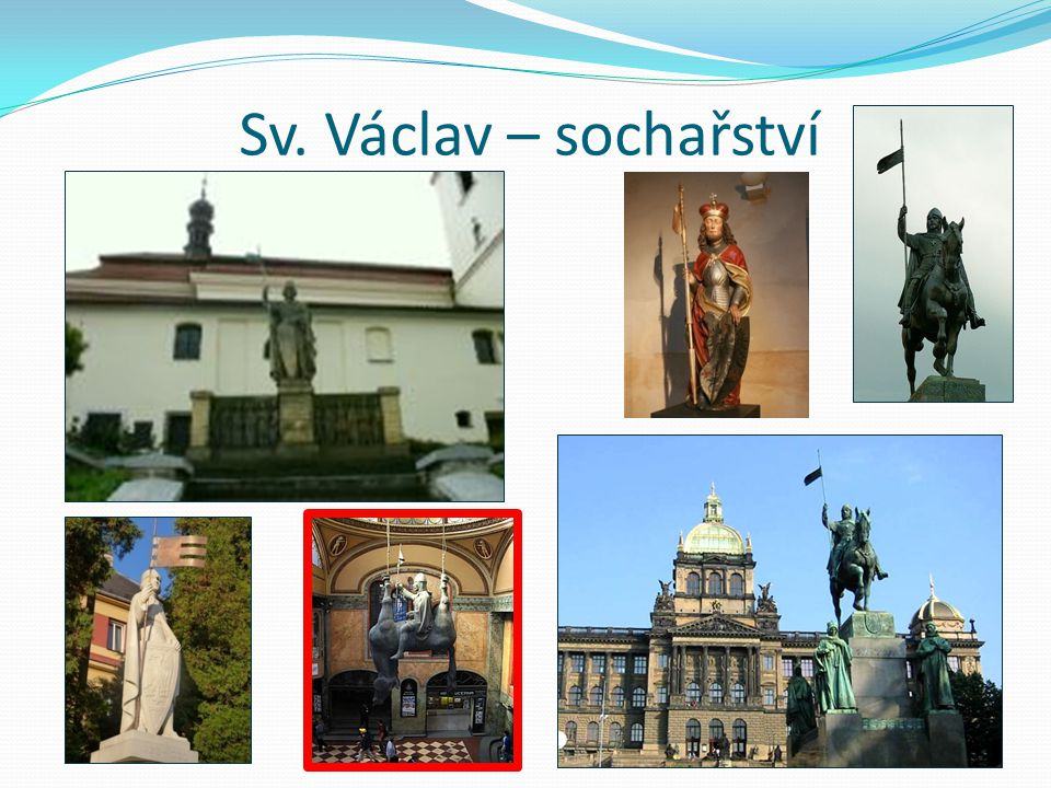 Sv. Václav – sochařství